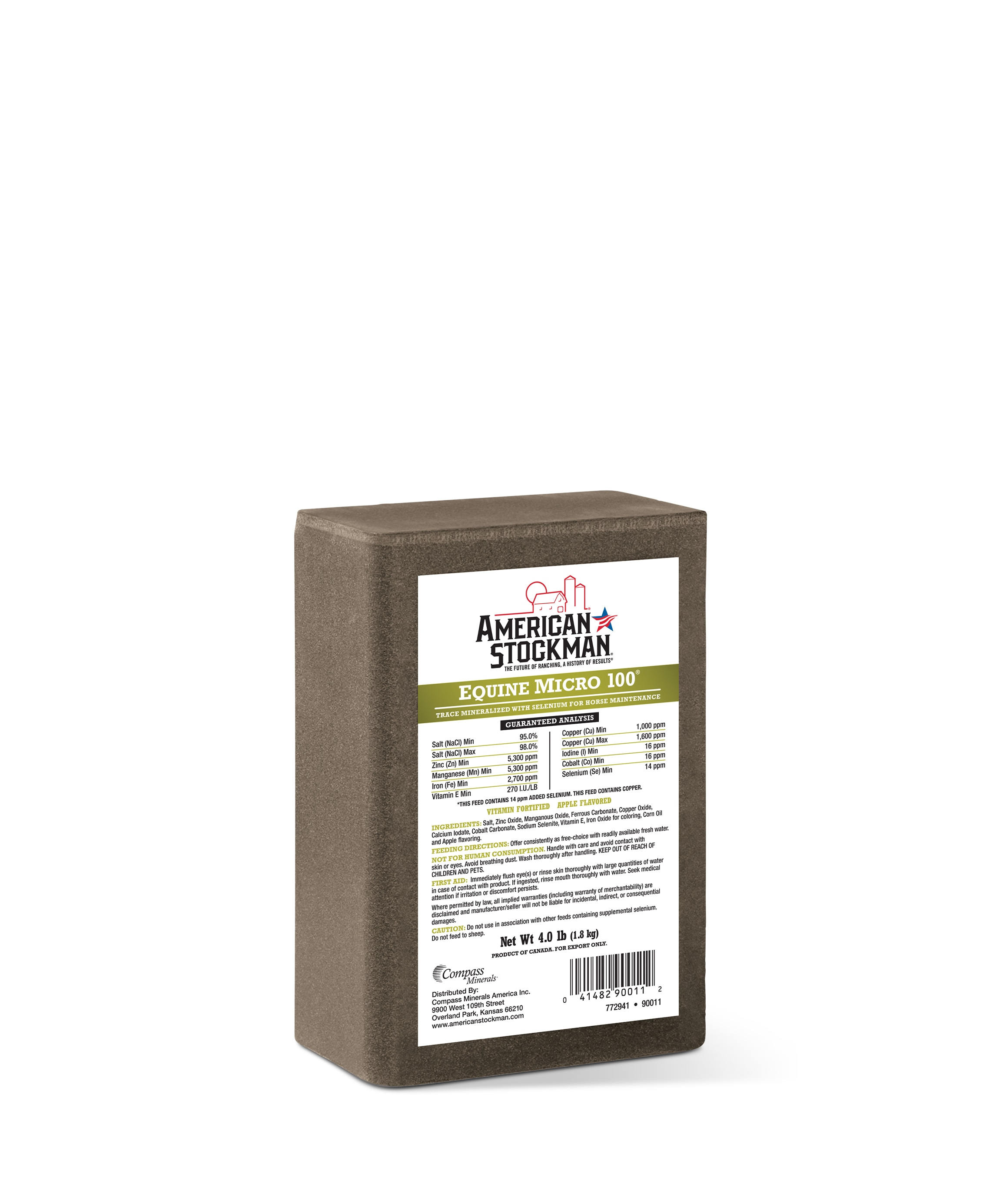 American Stockman® Equine Micro 100® Salt Brick Bag