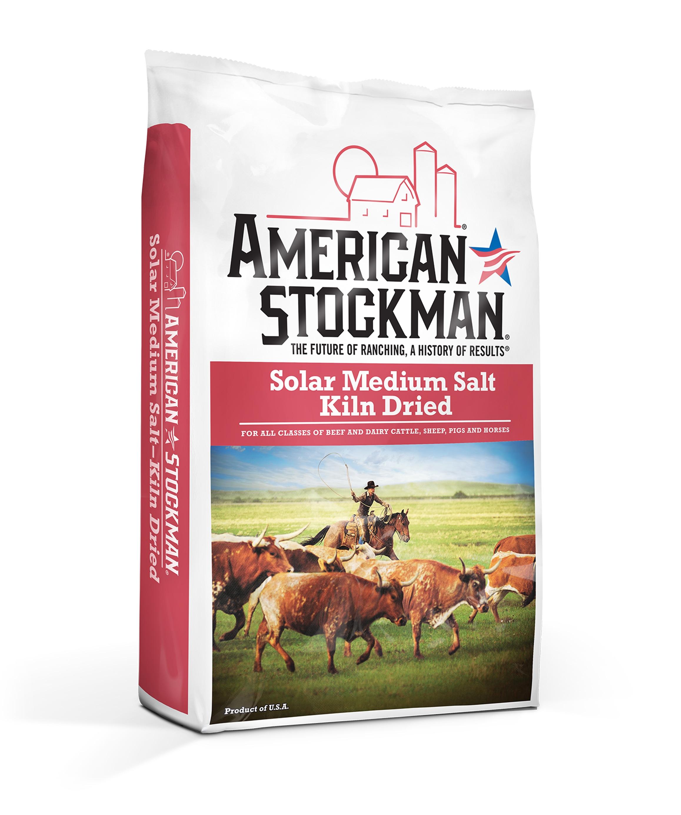 American Stockman® Solar Medium Salt, Kiln Dried Bag
