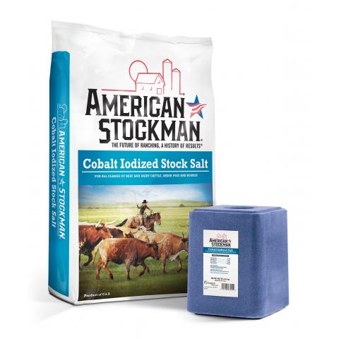 American Stockman® Cobalt Iodized Salt Bag