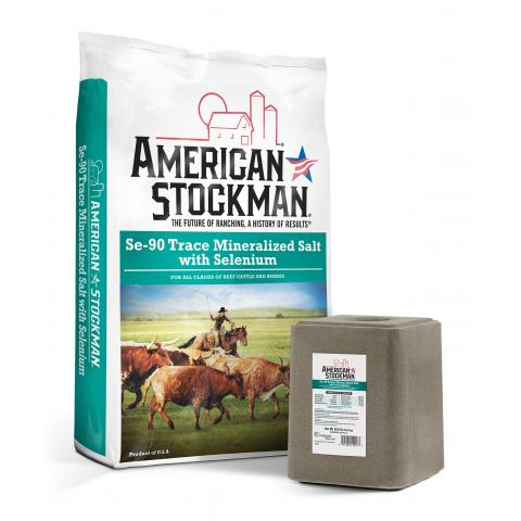 American Stockman® Se-90 Trace Mineralized Salt with Selenium Bag