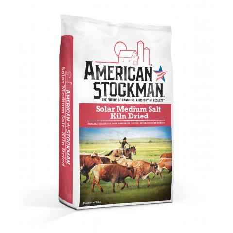 American Stockman® Solar Medium Salt, Kiln Dried Bag