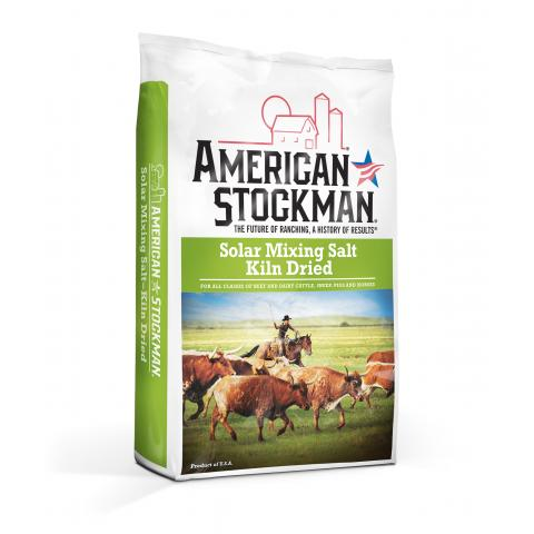 American Stockman® Solar Mixing Salt, Kiln Dried Bag